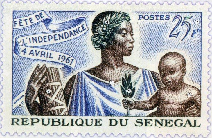 Poštovní známka Senegalu